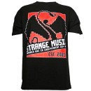 Strange Music - Black Retro T-Shirt - Large