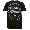 Strange Music - Black Trademark T-Shirt - 3-XL