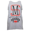 Strange Music - Heather Gray Banner Tank Top - Medium
