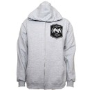 Strange Music - Heather Gray Banner Zip Hoodie - Medium
