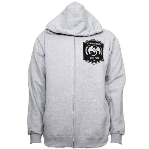 Strange Music - Heather Gray Banner Zip Hoodie