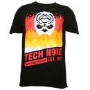 Tech N9ne - Black Retro T-Shirt - 2-XL