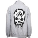 Tech N9ne - Heather Gray Mask Zip Hoodie