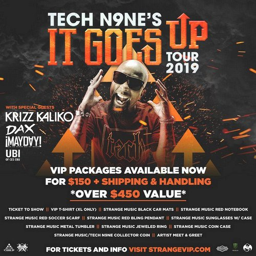 Tech N9ne's It Goes Up Tour 2019 Strange Music, Inc Store