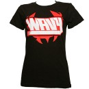 Ces Cru - Black Wavy Ladies T-Shirt - Ladies Medium