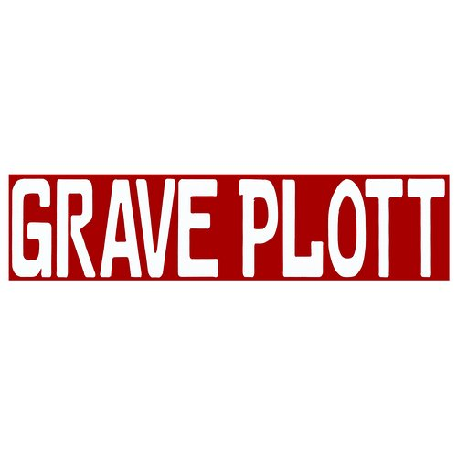 Grave Plott - White Individual Letters Decal