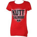 Kutt Calhoun - Ladies Red T-Shirt Linear Maze