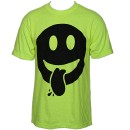 Krizz Kaliko - Safety Green Smiley T-Shirt - Extra Large