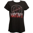 ¡MAYDAY! - Ladies Black Radar T-Shirt - Ladies Medium