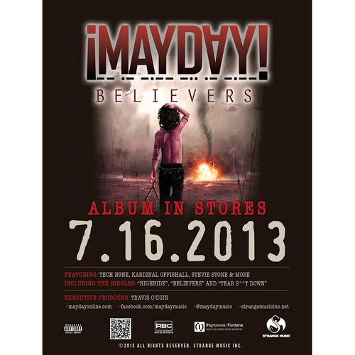 "¡MAYDAY! - Believers Poster 18"" x 24"""