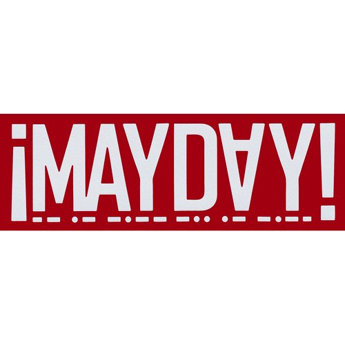 ¡MAYDAY! - White Decal