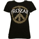Prozak - Black Peace Ladies T-Shirt - Ladies Small