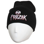 Prozak - Black Logo Embroidered Skull Cap