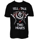 Prozak - Black Two Hearts T-Shirt - Large