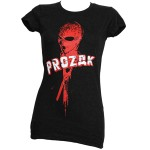 Prozak - Ladies Black Violator T-Shirt - Ladies Small