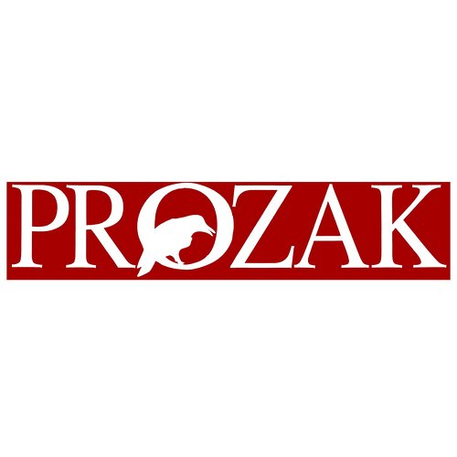 Prozak - White Individual Letters Decal