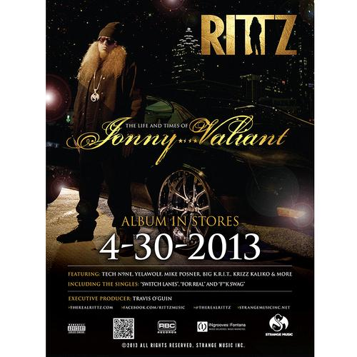 "Rittz - Life and Times of Jonny Valiant Poster 18"" x 24"""