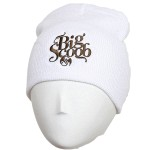 Big Scoob - White Embroidered Skull Cap