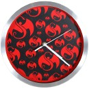 Strange Music - Black w/Red Snake and Bat Clock