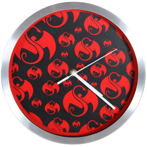 Strange Music - Black w/Red Snake & Bat Clock