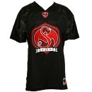 Strange Music - Black Shield Football Jersey