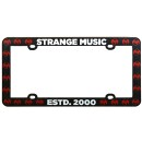 Strange Music - Black License Plate Frame