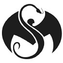 Strange Music - Black Logo Decal - 8 Inch