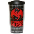 Strange Music - Black Travel Tumbler