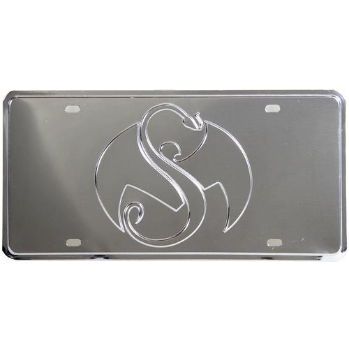 Strange Music - Chrome Snake & Bat License Plate