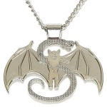 Strange Music - Real Snake & Bat Pendant