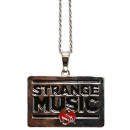 Strange Music - Chrome Rectangle Pendant