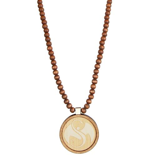 Strange Music - Snake & Bat Wood Pendant