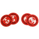 Strange Music - Red Tech N9ne 4 Coaster Set
