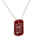 Strange Music - Red Lazer Etched Dog Tag