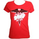 Strange Music - Red Saved My Life Ladies T-Shirt - Ladies Large