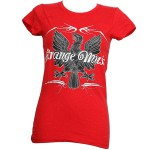 Strange Music - Ladies Red Bird T-Shirt - Ladies Large