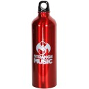 Strange Music - Red Aluminum Water Bottle