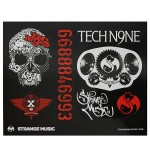 Strange Music - 2 Sheets of Stickers