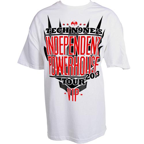 Tech N9Ne - White Independent Powerhouse VIP T-Shirt
