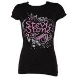 Stevie Stone - Ladies Black T-Shirt Interlock