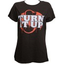 Stevie Stone - Ladies Black Turn It Up T-Shirt