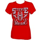 Stevie Stone - Ladies Red Silver Mic T-Shirt - Ladies Medium