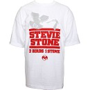 Stevie Stone - White 2 Birds 1 Stone Presale T-Shirt - Extra Large