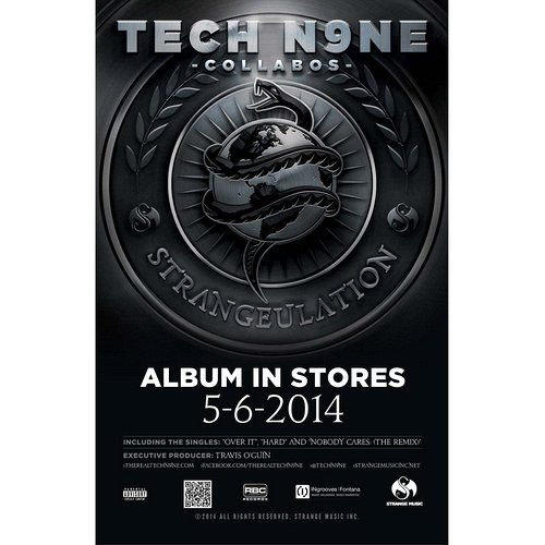 "Tech N9ne - Strangeulation Poster 18"" x 24"""