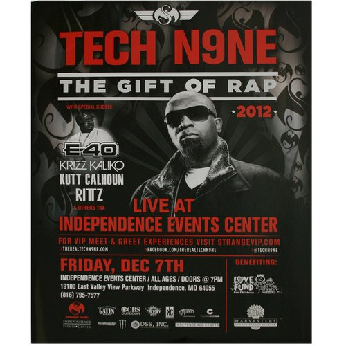 "Tech N9ne - Gift of Rap Poster 24"" x 36"""