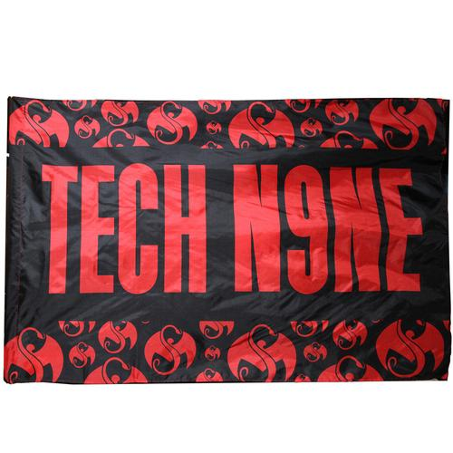 Strange Music / Tech N9ne - Black w/Red Flag 3' x 5'
