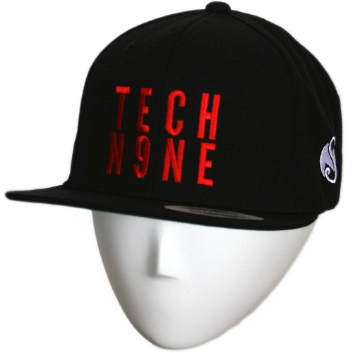 Tech N9ne - Black Stacked Snapback Hat