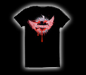 Tech N9ne - Ladies Black Heart T-Shirt - Ladies Small
