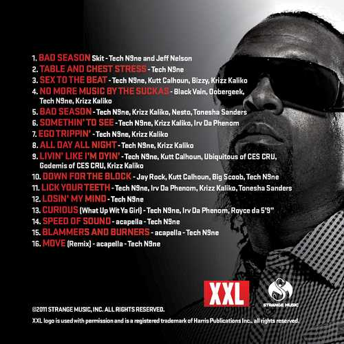tech n9ne all 6s and 7s tracklist