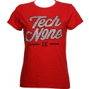 Tech N9ne - Red Silver Curly Ladies T-Shirt - Ladies Small